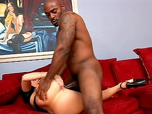 Mighty rod for Sophie in a hot interracial bang-out scene
