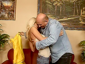 Pretty blonde Sun likes rear end style bang-out with an elderly dude