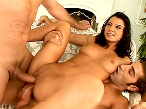 Lucy Belle loves ardent Double penetration and gets her fuck-holes crammed with jizz