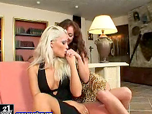 Elegant & erotic sapphic chicks gobble each others vaginas