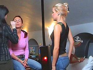 Backstage Footage Of Girl-on-girl Threeway Flick