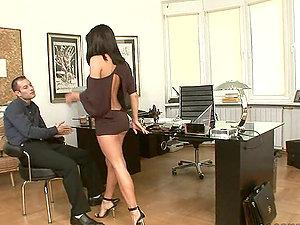 Sex-positive Mya Diamond fucks her biz colleague
