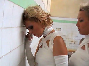Jail Mansion Fuck with Two Hot and Sexy Lezzy Blondes