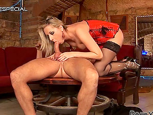 Daria Glower Plays with Big Fake penises and a Hard Hard-on for Jism