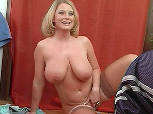 Blonde With Thick Tits Gets Her Boobies Covered with Jizz