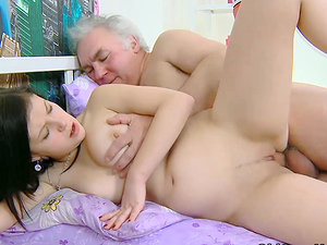 Two creepy old dudes have manged to get a nice little nubile