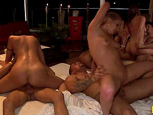 2nd Slice of the Lovemaking Spree in Best Orgy Interracial!