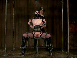 Hot Mizz Amanda Marie gets chained and tormented in Sadism & masochism vid