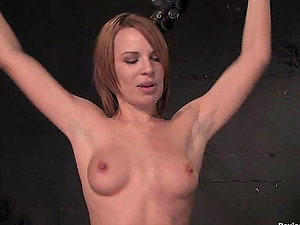 Lewd cockslut Dana Dearmond gets hanged up in kinky Domination & submission clip