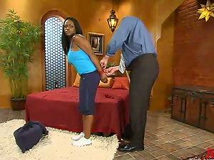 Interracial Predominance and Restrain bondage Fuck-a-thon with Black Pornographic star Jada Fire