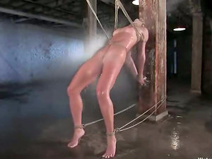 Honey with Fine Donk Gets Restrain bondage and Water Torment