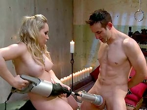 Aiden Starr Face Sits and Strapon Fucks Boy Before Fleshlight Games