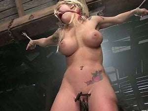 Sexy blonde Bunnie gets gorgeously fucked by Sandra Romain