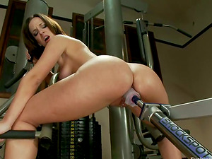 Nimble Jada Stevens gets her moist beaver toyed by a machine