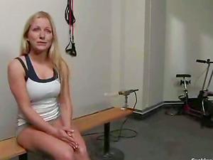 Dia Zerva Blonde Vixen Screaming to a Machine Fucking