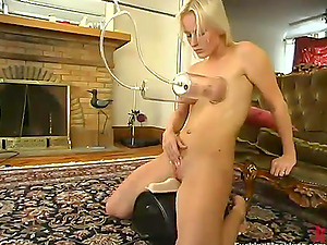 Lustful Blonde Sharon Wild Luvs Fucking Machines and Sybian saddle