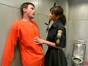 Police Officer Cole Conners Predominates and Strapon Fucks Masculine Inmate