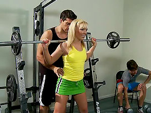 Helping with Weights and Helping to Get Off in the Gym