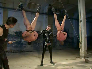 Two horny fags get tormented and fucked in amazing Bondage & discipline clip