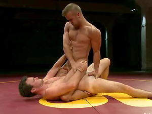 Two fucking fags are banging each other in grappling
