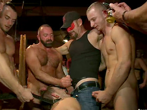 Bounded Jessie Colter gets tormented and fucked by fellows