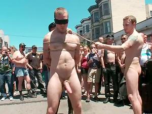 Sebastian Keys gets tantalized and fucked in public