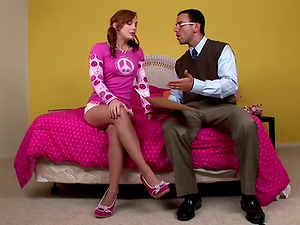 Crazy and sassy red-haired is going to fuck her instructor