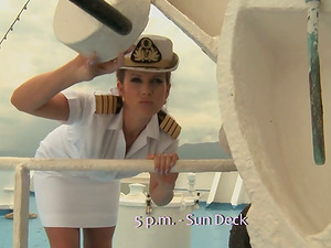 Two marine officers are fucking the lower rank stunner Cindy