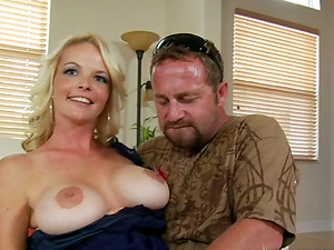 Sensuous blonde mummy is luving that gigantic monster