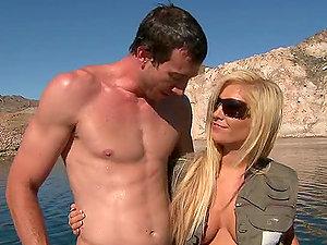 Huge-titted Beauty Tasha Reign Gets Her Clean-shaven Vagina Fucked after Fishing Tour