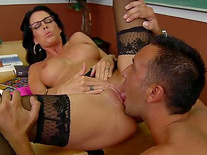 Mrs.Stevens  Penalizes Her Horny Students With Hard Fucks