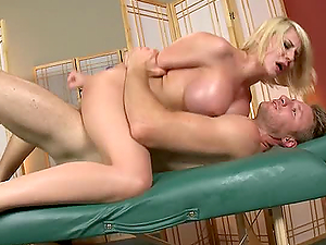 Big Tit Rubdown Cockslut Gets Spunk On Tits For Lubricant Replacement