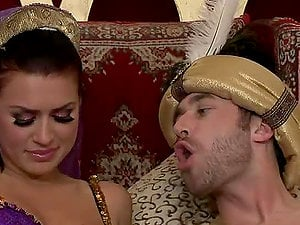 The Sultan's Promiscuous Skank Indeed Hot Anal invasion With Eva Angelina