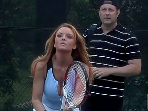 Outdoor Xxx Scene With the Hot Janet Mason And Her Tennis Coach