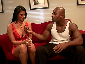 Promiscuous Brown-haired Nubile Is Slammed By Her Big Black Tutor