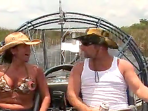 Big-boobed mummy is lovin? that fat dick on the boat