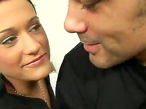 Gorgeous Brunettes Getting Fucked by Two Dicks in Four-way