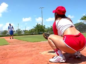 Poolside romp with a  booty and big-boobed baseball female Lexxxi