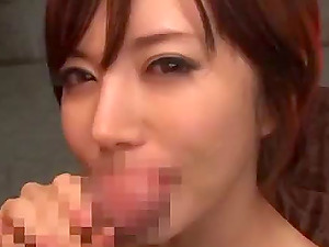 This movie has some Japanese jizz-shotgun sucking activity, with a facial cumshot and blurred vulva to boot