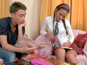 Teenage dreamed him to help out with her homework