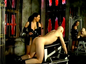 Domme Mistress Alexa Playing with a Dude's Butt in Female dom