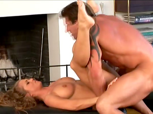 Rita Faltoyano gets her mouth and cunt smashed by Lee Stone