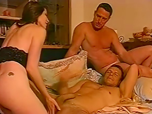Bisexual Romp Scene With Two Horny Dudes And One Whore