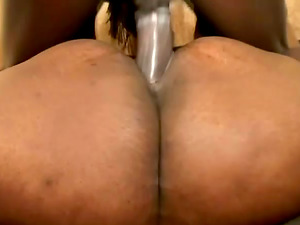 Black BBW Fucked Doggystyle And Missionary Until Jizz On Face