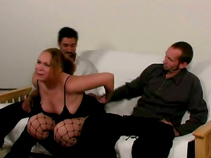 Two Horny Guys And Chubby First-timer Hooker In Wild Hump