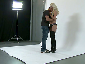 Jazy Berlin gargles a massive weiner and gets banged rear end style