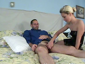 Slender blondie wants to grind your penis