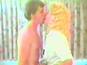 Curly blonde cougar gets fucked in retro vid
