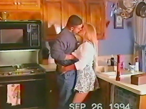 A blonde Cougar gets fucked from behind in a homemade vid