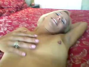 Delightful blondie is satisfying her man